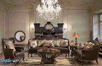 Satu Set Sofa Tamu Kayu Jati Mewah Klasik Jepara French