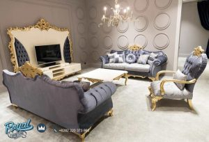 Set Kursi Sofa Ruang Tamu Mewah Jepara Terbaru