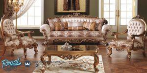 Set Kursi Sofa Tamu Jepara Gold Classic Terbaru