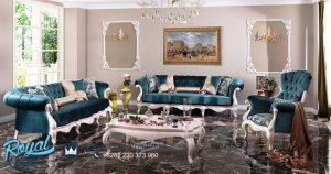 Set Kursi Tamu Mewah Modern Putih Duco Terbaru
