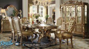 Set Meja Makan Klasik Mewah Gold Eropan Style