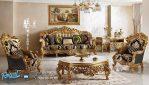 Set Sofa Tamu Klasik Gold Ukiran Eropa Sehrazat Terbaru