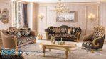 Set Sofa Tamu Klasik Mewah Gold Marsente