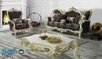 Set Sofa Tamu Mewah Elegan Ukir Klasik