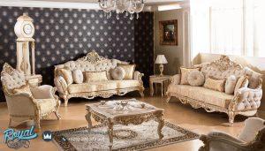 Set Sofa Tamu Mewah Ukir Klasik Jepara Arande