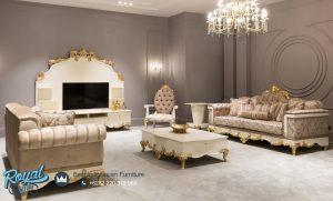 Sofa Tamu Mewah Terbaru Bulgaria Crem