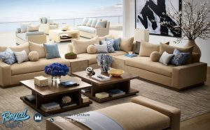 Sofa Tamu Minimalis Ruang Keluarga Jati Living Room
