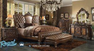 Set Kamar Tidur Klasik Jati Eropa Ukiran Versailles