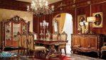 Set Meja Makan Klasik Mewah Kayu Jati Ukir Jepara Luxury Room