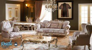 Kursi Sofa Tamu Mewah Modern Terbaru Ukir Jepara Zumrut