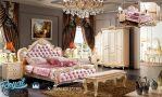 Model Kamar Tidur Set Mewah Modern Pink Leather