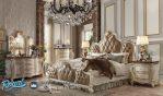 Set Kamar Tidur Mewah Modern Alexandra Putih Duco