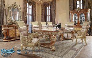 Set Kursi Meja Makan Klasik Eropa King Lion Ukir Jepara