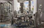 Set Meja Makan Klasik Terbaru Ukiran antique Platinum Versailles