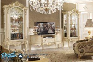 Set Bufet Tv Ruang Tamu Mewah Terbaru Jepara