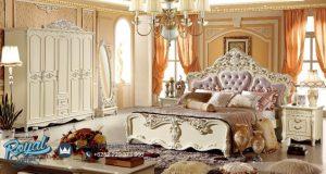 Set Kamar Tidur Mewah Modern Ukiran Cat Duco Royal