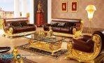 Set Sofa Tamu Klasik Mewah Fancy Gold Terbaru
