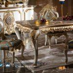 Meja Makan Klasik Ukir Jepara Eropan Style