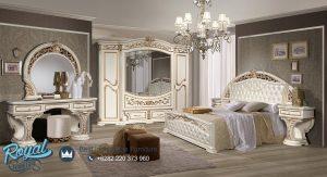 Set Tempat Tidur Luxury Ukiran Jepara Elegan