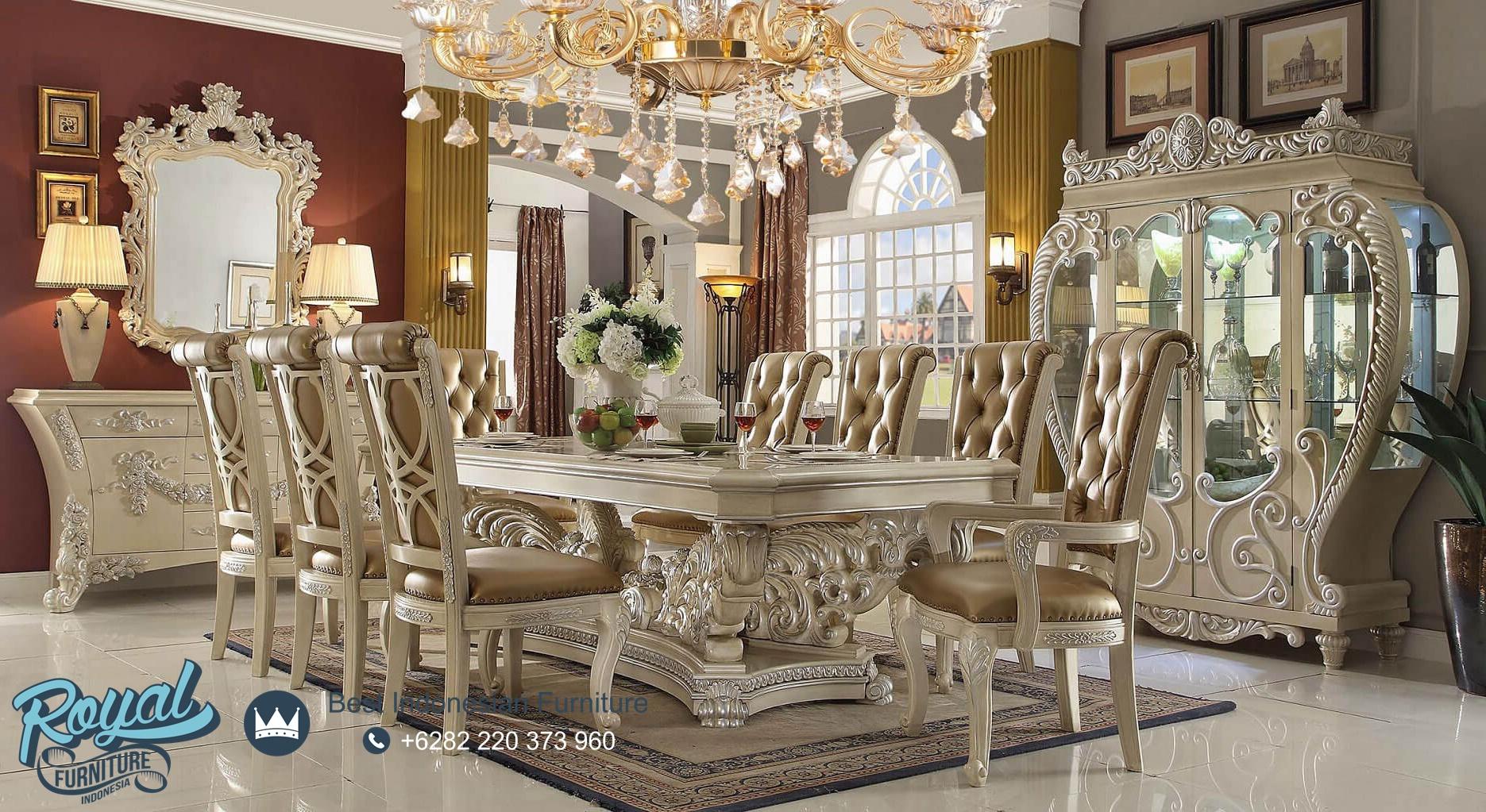 Set Meja Kursi Makan Jepara Terbaru Ukiran Mewah Klasik Homey Design