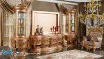 Set Bufet Tv Mewah Ukiran Klasik Jepara Terbaru Napolone