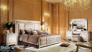 Kamar Tidur Mewah Modern Italian Style Ukir Jepara Terbaru