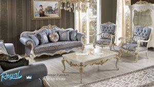 Sofa Tamu Mewah Modern Ukir Jepara Terbaru Fenom Luxury