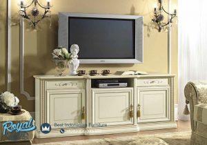 Bufet Meja Tv Minimalis Modern Kayu Jepara Ivory Terbaru