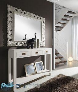 Meja Konsul Minimalis Modern Warna Putih Duco Terbaru Italian