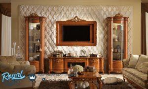 Bufet Tv Lemari Hias Ruang Tamu Jati Klasik Marcopolo