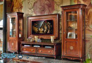 Lemari Bufet Tv Jati Klasik Cortina