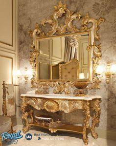Model Meja Konsul Mewah Klasik Gold Ukiran Jepara Specchiera
