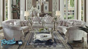 Sofa Ruang Tamu Mewah Modern Putih Versailles