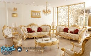 Model Sofa Ruang Tamu Mewah Gold Luxury