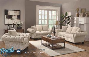 Desain Sofa Ruang Tamu Jati Jepara Minimalis Vintage