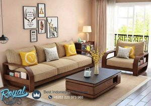 Kursi Sofa Jati Minimalis Jepara Brown Natural