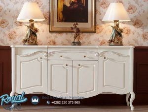 Meja Bufet Hias Minimalis Modern Putih Duco Italiano