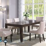 Set Meja Makan Minimalis 6 Kursi Chicago Dining Set