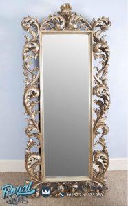 Model Pigura Cermin Ukiran Jepara Champagne