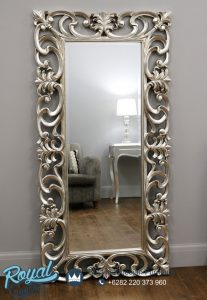 Pigura Cermin Ukir Persegi Panjang Antique
