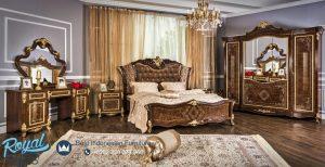 Jual Tempat Tidur Kayu Jati Klasik Mewah Naturale