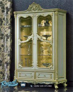 Lemari Hias Mewah Ukir Klasik Victorian