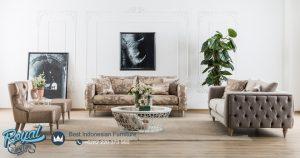 Desain Sofa Kursi Tamu Minimalis Vintage Mewah