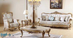 Kursi Sofa Tamu Mewah Klasik Terbaru Gold Koltuk