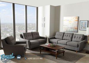Set Sofa Tamu Minimalis Terbaru Grey Jati Jepara