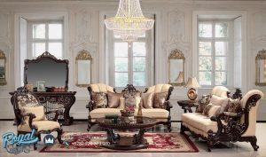 Sofa Tamu Klasik Jati Jepara Wood Living Room