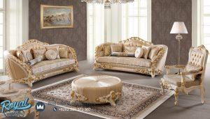 Sofa Tamu Mewah Luxury Velasco Klasik Ukir Rose