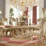 Desain Meja Kursi Makan Mewah Ukir Klasik Royal Kingdom