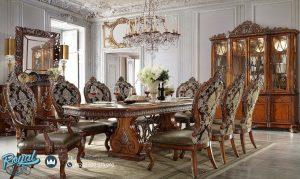 Set Meja Makan Jati Klasik Victorian Terbaru