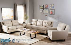 Kursi Sofa Tamu Minimalis Terbaru Jati Jepara Light Beige
